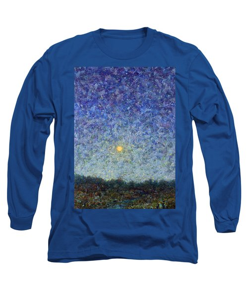 Long Sleeve T-Shirt featuring the painting Cornbread Moon by James W Johnson