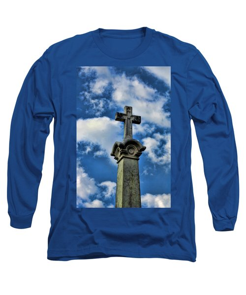 Long Sleeve T-Shirt featuring the photograph Cross Face 3 by Lesa Fine