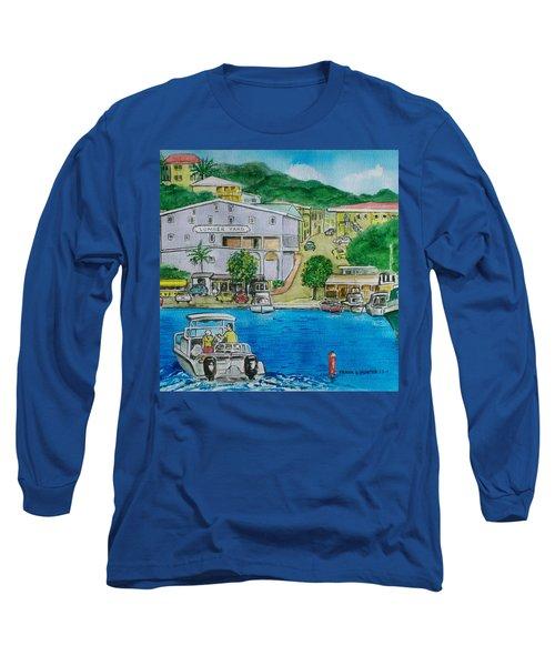Cruz Bay St. Johns Virgin Islands Long Sleeve T-Shirt by Frank Hunter