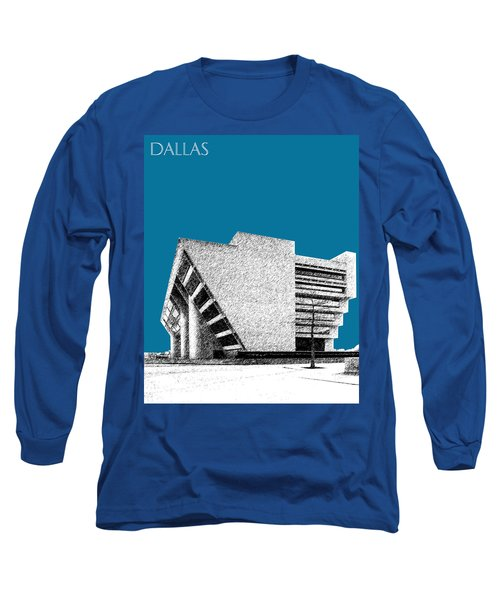 Dallas Skyline City Hall - Steel Long Sleeve T-Shirt