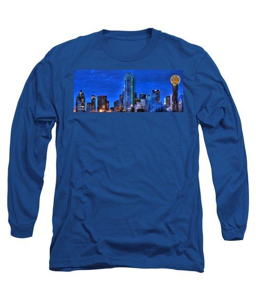 Dallas Skyline Hd Long Sleeve T-Shirt
