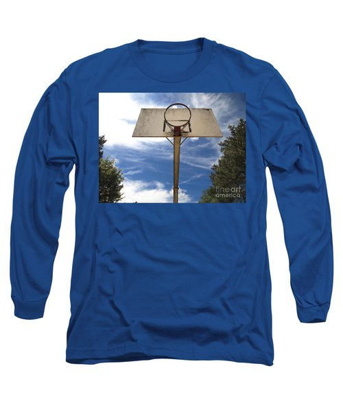 Damged Basketball Hoop Long Sleeve T-Shirt