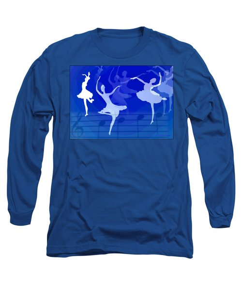 Dance The Blues Away Long Sleeve T-Shirt by Joyce Dickens