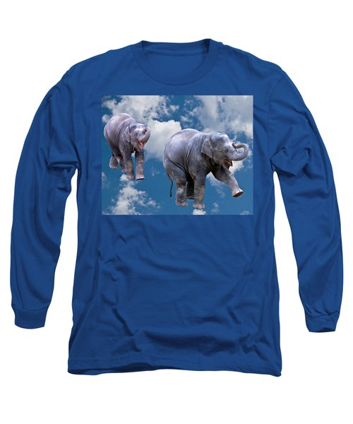 Dancing Elephants Long Sleeve T-Shirt by Jean Noren