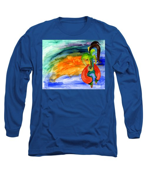 Dancing Tree Of Life Long Sleeve T-Shirt by Mukta Gupta