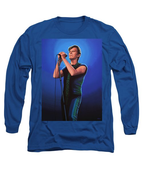 David Bowie 2 Painting Long Sleeve T-Shirt