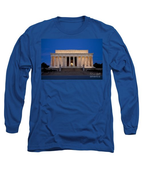 Dawn At Lincoln Memorial Long Sleeve T-Shirt