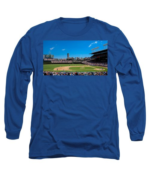 Day Game At Wrigley Field Long Sleeve T-Shirt by Anthony Doudt