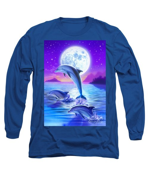 Day Of The Dolphin Long Sleeve T-Shirt by Robin Koni
