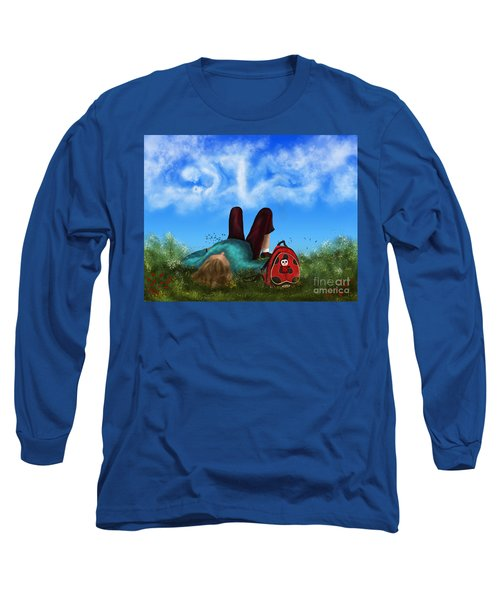 Long Sleeve T-Shirt featuring the digital art Daydreaming by Rosa Cobos