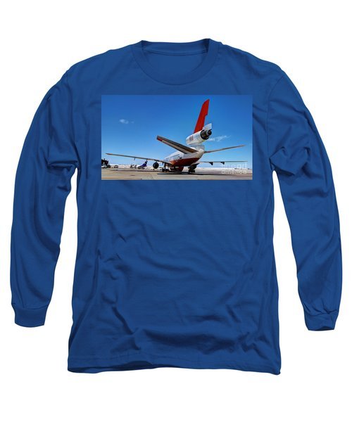 Long Sleeve T-Shirt featuring the photograph Dc-10 Air Tanker  by Bill Gabbert