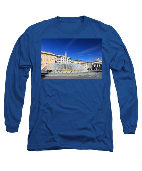 De Ferrari Square - Genova Long Sleeve T-Shirt