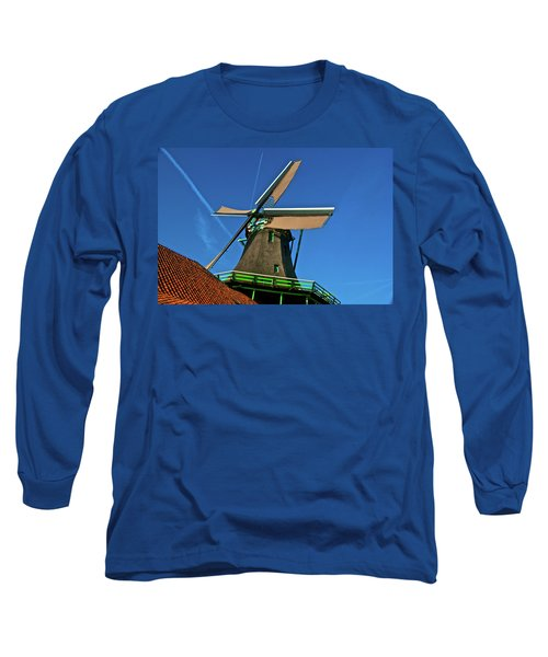 Long Sleeve T-Shirt featuring the photograph De Kat Blue Skies by Jonah  Anderson