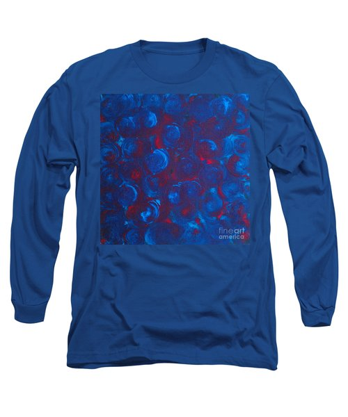 Long Sleeve T-Shirt featuring the painting Deep by Jacqueline McReynolds