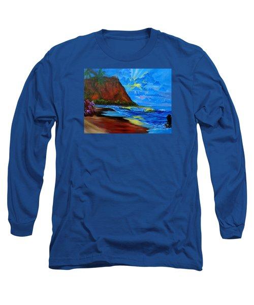 Diamond Head Blue Long Sleeve T-Shirt