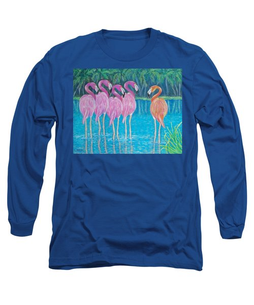 Long Sleeve T-Shirt featuring the painting Different But Alike by Susan DeLain