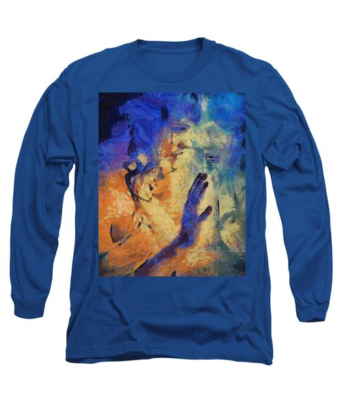 Long Sleeve T-Shirt featuring the painting Discovering Yourself by Joe Misrasi
