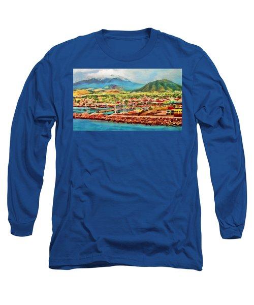 Docked In St. Kitts Long Sleeve T-Shirt