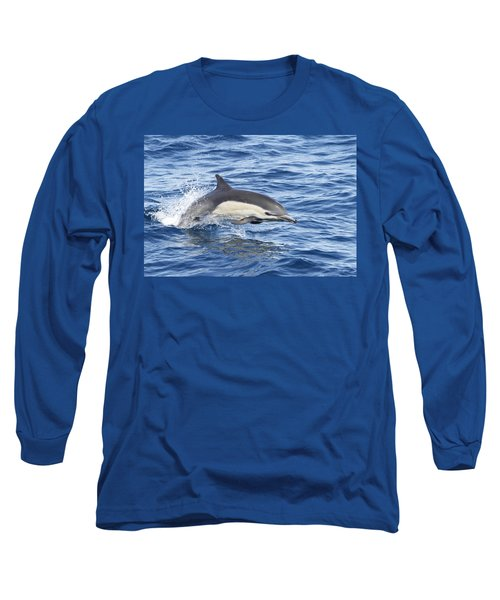 Dolphin At Play Long Sleeve T-Shirt by Shoal Hollingsworth