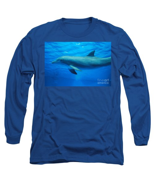 Dolphin Underwater Long Sleeve T-Shirt by DejaVu Designs