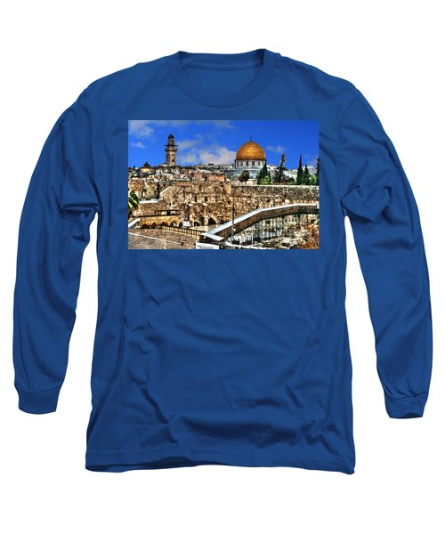 Long Sleeve T-Shirt featuring the photograph Dome Of The Rock by Doc Braham