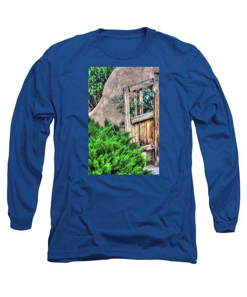 Long Sleeve T-Shirt featuring the photograph Door, Santuario De Chimayo by Lanita Williams
