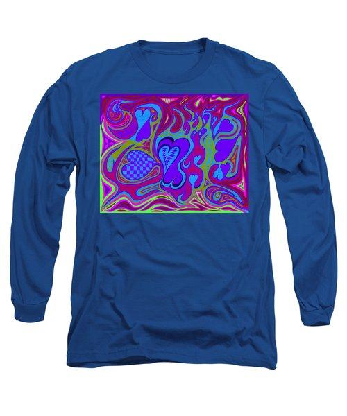Double Broken Heart Long Sleeve T-Shirt