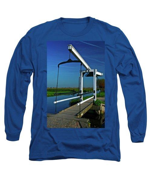 Long Sleeve T-Shirt featuring the photograph Drawbridge At Zaanse Schans by Jonah  Anderson