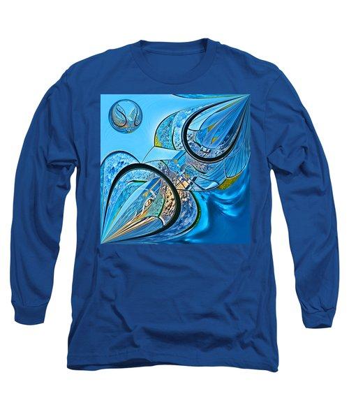 Blue Fantasy Long Sleeve T-Shirt