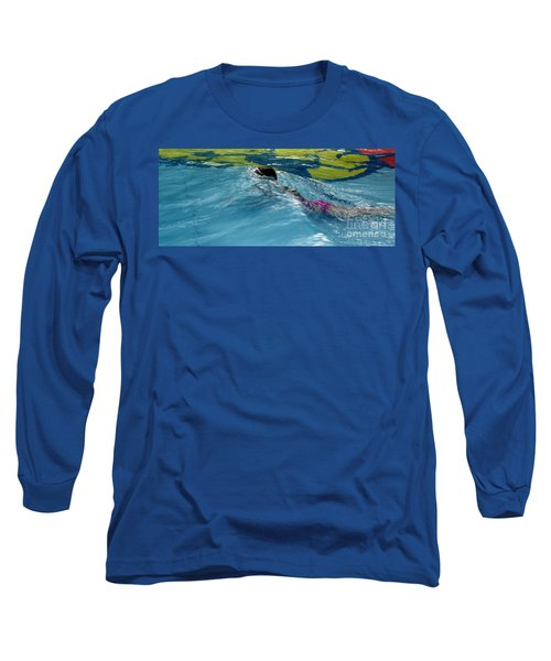 Ducking Under A Wave In A Pool Long Sleeve T-Shirt