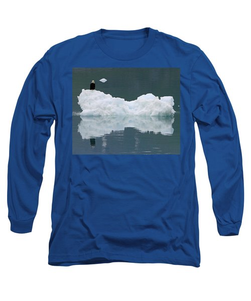 Eagle On Ice Long Sleeve T-Shirt by Shoal Hollingsworth