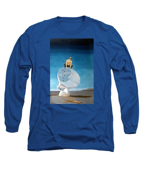 Long Sleeve T-Shirt featuring the painting Echoes by Lazaro Hurtado