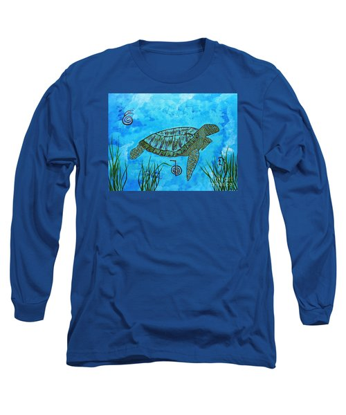 Emotional Healing With The Sea Turtle Long Sleeve T-Shirt