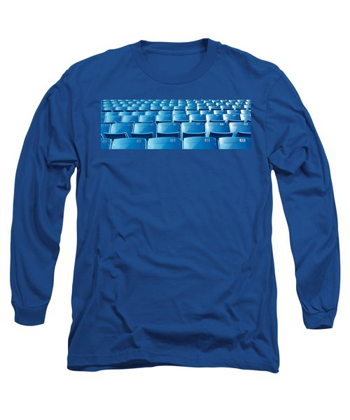 Empty Blue Seats In A Stadium, Soldier Long Sleeve T-Shirt by Panoramic Images