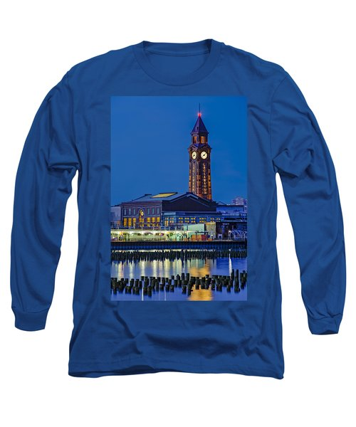 Long Sleeve T-Shirt featuring the photograph Erie Lackawanna Terminal Hoboken by Susan Candelario