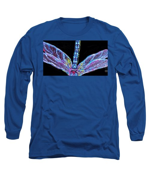 Ethereal Wings Of Blue Long Sleeve T-Shirt by Kimberlee Baxter