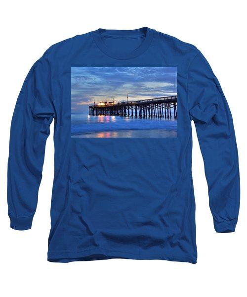 Evening Reflections Newport Beach Pier Long Sleeve T-Shirt
