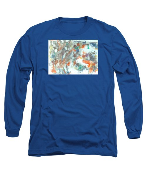 Long Sleeve T-Shirt featuring the mixed media Express Graphic by Esther Newman-Cohen