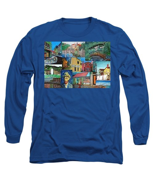 Fantacy Collage Long Sleeve T-Shirt