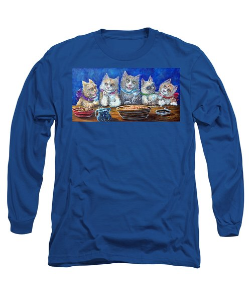 Felines After Five Long Sleeve T-Shirt by Gail Butler
