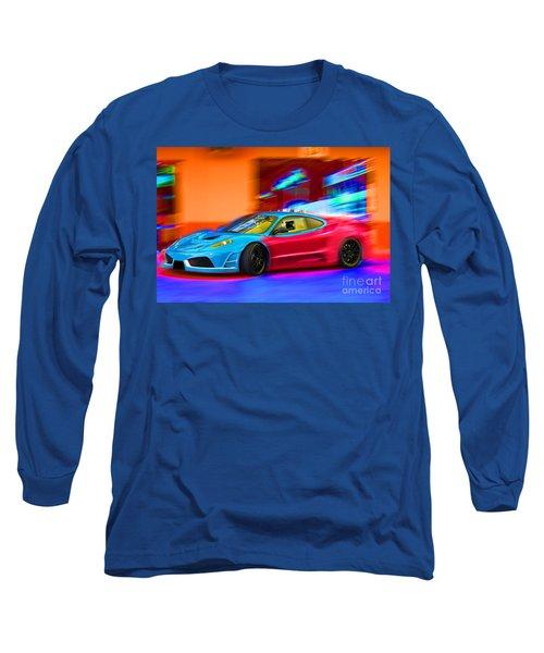 Long Sleeve T-Shirt featuring the photograph Ferrari Baby Blue by Gunter Nezhoda