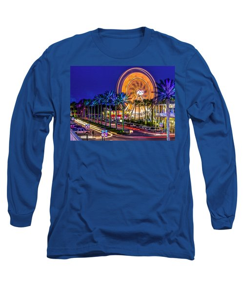 Ferris Wheel At The Wharf Long Sleeve T-Shirt by Rob Sellers