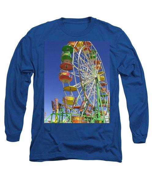 Ferris Wheel Long Sleeve T-Shirt by Marcia Socolik