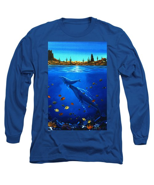 Long Sleeve T-Shirt featuring the painting First Breath by Lance Headlee