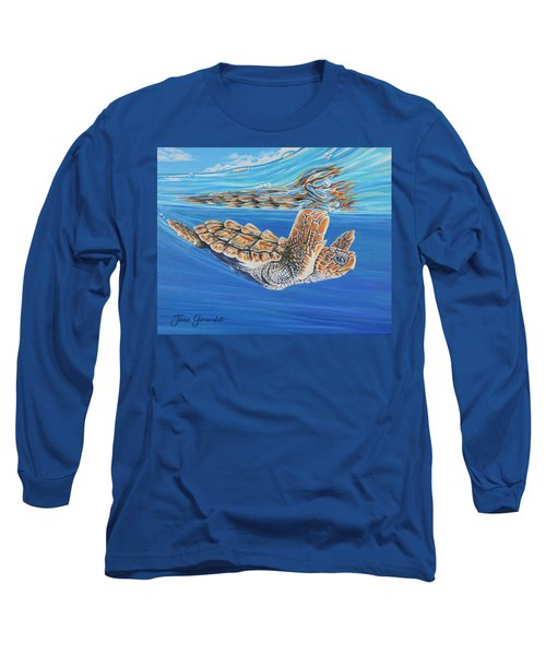 First Dive Long Sleeve T-Shirt by Jane Girardot