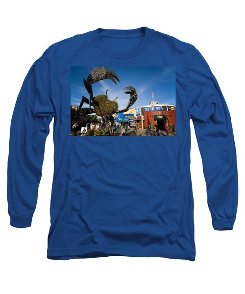 Fishermans Wharf Crab Long Sleeve T-Shirt