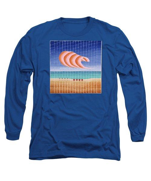Five Beach Umbrellas Long Sleeve T-Shirt