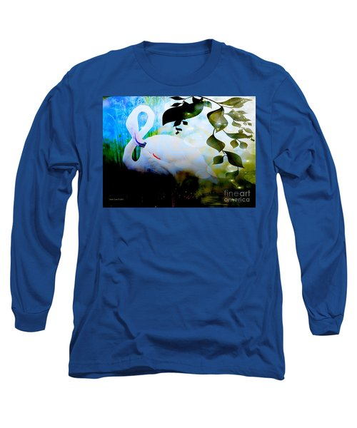 Long Sleeve T-Shirt featuring the photograph Flamingo by Annie Zeno