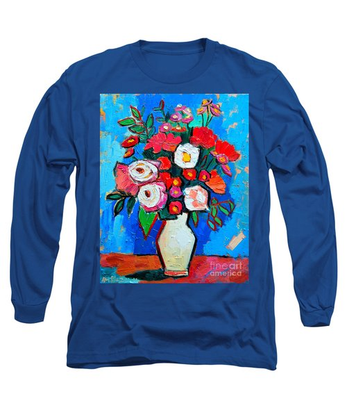 Flowers And Colors Long Sleeve T-Shirt by Ana Maria Edulescu