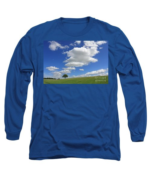 Fluffy Clouds Over Epsom Downs Surrey Long Sleeve T-Shirt